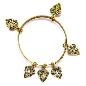 THUNDERBIRD GOLD MEHNDI BANGLE - NEW